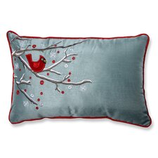 Holiday Cardinal on Snowy Branch Lumbar Pillow