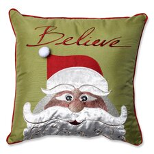 Christmas Santa Believe Throw Pillow