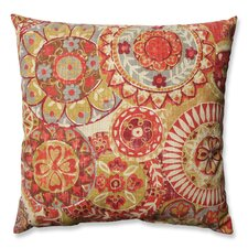 Indira Cardinal Cotton Throw Pillow