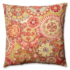 Indira Cardinal Cotton Floor Pillow