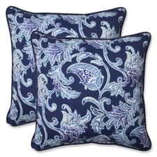 Lahaye Indigo Indoor/Outdoor Throw Pillow (Set of 2)