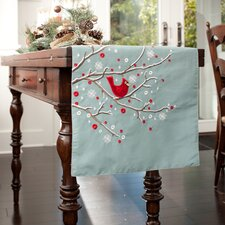 Holiday Cardinal Branch Table Runner