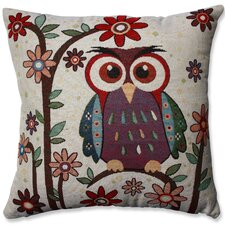 Owl Hoot Throw Pillow