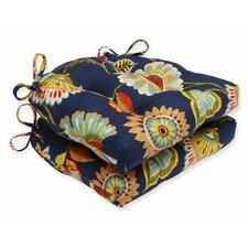 Ailey Prussian Reversible Chair Cushion (Set of 2)