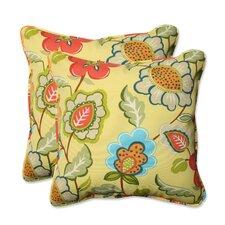 Timmo Sunshine Outdoor/Indoor Throw Pillow (Set of 2)