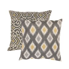 Damask and Rodrigo Cotton Throw Pillow (Set of 2)