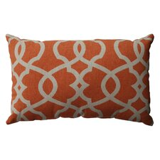 Lattice Damask Cotton Lumbar Pillow
