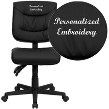 Personalized Mid-Back Leather Multi-Functional Task Chair