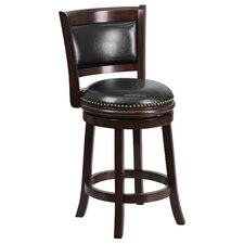 24'' Swivel Counter Height Stool with Cushion