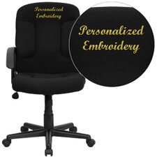 Personalized Mid-Back Conference Chair with Nylon Arms