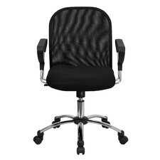 Mid-Back Mesh Conference Chair with Chrome Base
