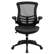 Mid-Back Leather Chair with Arms