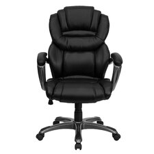 High Back Leather Layered Upholstered Executive Chair