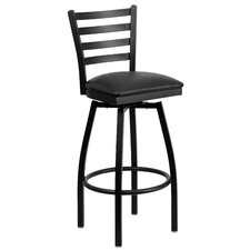 "Hercules Series 32"" Swivel Bar Stool with Cushion"