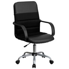Mid-Back Mesh and Leather Chair