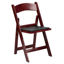 Resin Folding Chair with Vinyl Padded Seat (Set of 4)