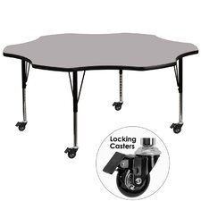 """Mobile 60"""" Flower Classroom Table"""