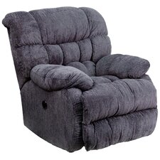 Columbia Contemporary Microfiber Power Recliner with Push Button