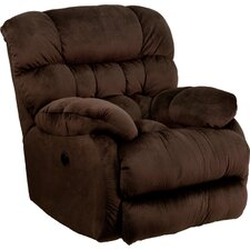 Sharpei Contemporary Microfiber Power Recliner with Push Button