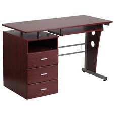 Computer Desk with 3 Drawer Pedestal