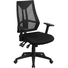High-Back Mesh Chair with Arms