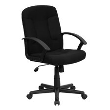 Mid-Back Fabric Office Chair with Nylon Arms