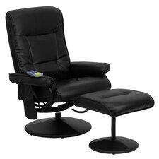 Heated Reclining Massage Chair & Ottoman