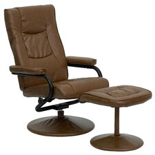 Contemporary Reclining Office Chair & Ottoman Set