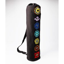 Chakra Drawstring Yoga Mat Bag in Black
