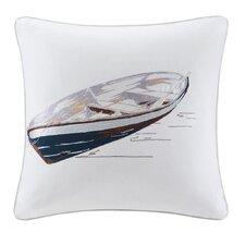 Lake Side Cotton Throw Pillow