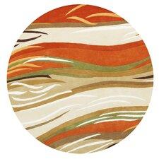 New Zealand Handmade Sand/Orange Area Rug