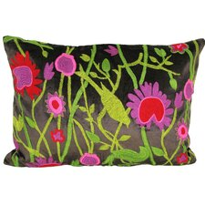 Cherry Blossom Velvet Lumbar Pillow