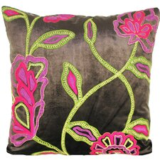 Cherry Blossom Velvet Throw Pillow