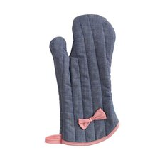 Denim Bow with Oven Mitt