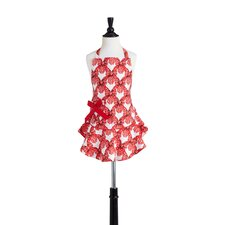 Red Velvet Bows Children's Bib Josephine Apron