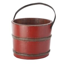 Vintage Wooden House Bucket