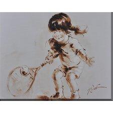 Tennis Girl Framed Painting Print