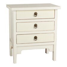 Three Drawer Lacquer End Table