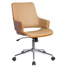 Solene High-Back Leather Office Chair with Arms