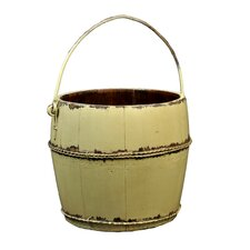 Vintage Round Kitchen Bucket with Iron Handle