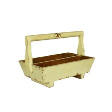 Half-Sized Double Tray with Wooden Handle