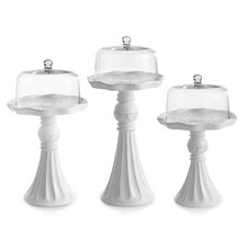 Amie 3 Piece Domed Cake Stand Set