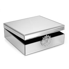 Mirror Jewelry Box with Brooch
