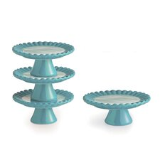 Ruffle Cup Pedestal Cake Stand (Set of 4)