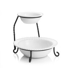 Bianca Bead 2 Tier Serving Tray