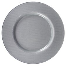 "13"" Reflex Glass Charger Plate"