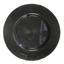 "13"" Glass Starburst Charger Plate"