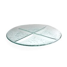 Aqua Round Divided Serving Dish