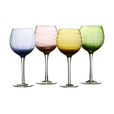 Sarah 4 Piece All-Purpose Wine Glass Set