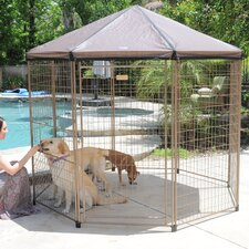 "The ""Pavilion"" Steel 90"" Yard Kennel"